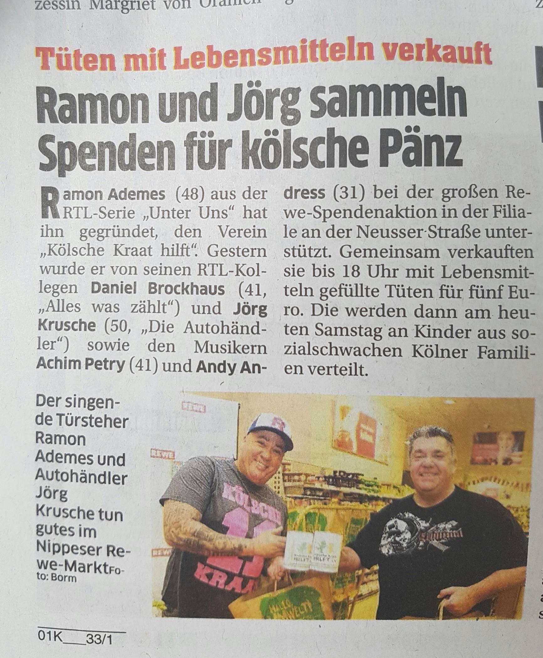 REWE Köln Spendeaktion
